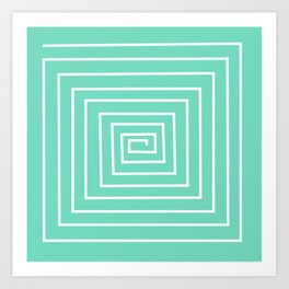 torquoise labirint design Art Print
