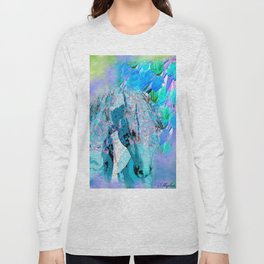 HORSE RAINBOW PARADISE Long Sleeve T-shirt