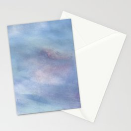 Modern abstract blue lilac violet purple watercolor brushstrokes Stationery Cards