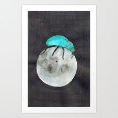 Moon Beetle Art Print