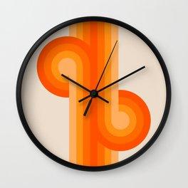 Creamsicle Knots Wall Clock
