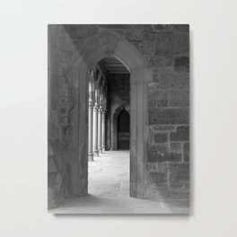 Cloister View Metal Print
