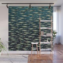 Mackerel At Sea Wall Mural