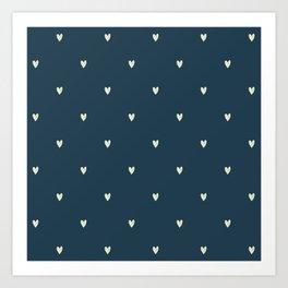 Cute Heart Pattern Art Print