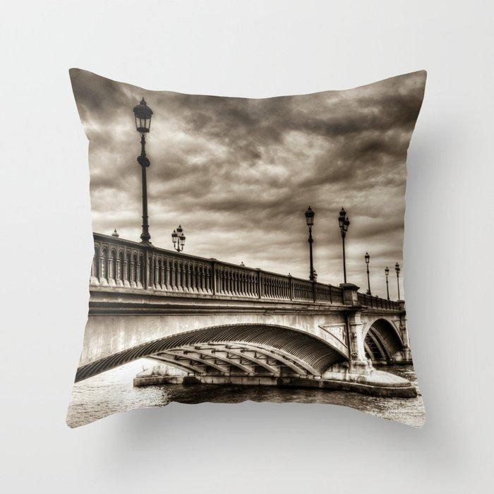 Battersea Bridge london Throw Pillow