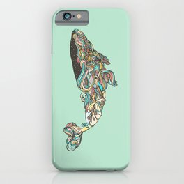 The 52 hertz whale iPhone Case