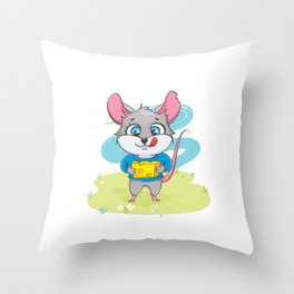Mice To See You Mouse Rat Animal Pet Rodent Gift Throw Pillow