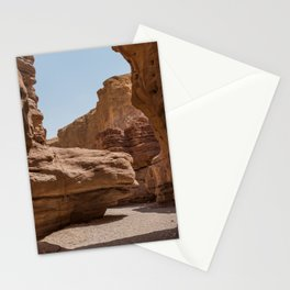 red canyon is israel negev desert Stationery Cards