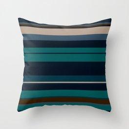 minimalistic horizontal stripes pattern hbi Throw Pillow