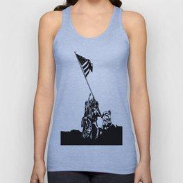 Raising the Flag on Iwo Jima Unisex Tank Top