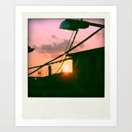 Sunset on my way Art Print