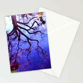 Reflection of a tree Stationery Cards