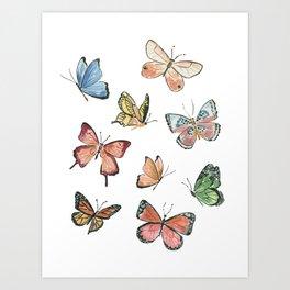 Butterflies by Lindsay Brackeen Art Print
