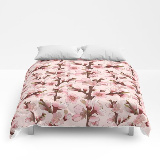 Cherry Blossom #16 Comforters