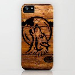 Darrell Merrill Nerd Artist: Wooden Wolf Two iPhone Case