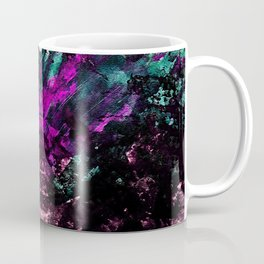 Textured Graffiti Print Coffee Mug