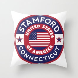 Connecticut, STAMFORD Throw Pillow