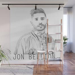 Jon Bellion Illustration with text Wall Mural