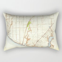 Newport Beach, CA from 1935 Vintage Map - High Quality Rectangular Pillow