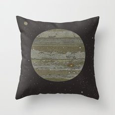 Jupiter (and selected Moons) Throw Pillow
