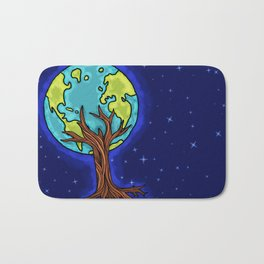 SPACE EARTH TREE Bath Mat