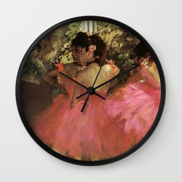 Dancers In Pink 1885 By Edgar Degas | Reproduction | Famous French Painter Wall Clock