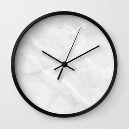 3D Realistic White Marble Texture Surface 07 Wall Clock