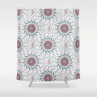wallpaper Shower Curtains featuring Wallpaper  by Truly Juel