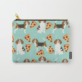 beagle pizza dog lover pet gifts cute beagles pure breeds Carry-All Pouch