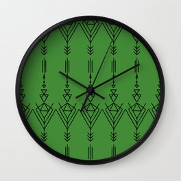 Arrow in Green Wall Clock
