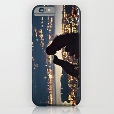 Girl and dog silhouettes  iPhone 6s Slim Case