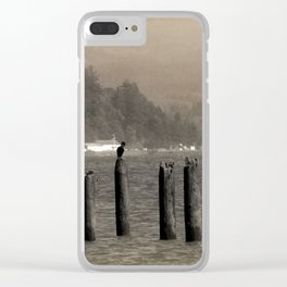 Columbia River Cormorants Birds Clear iPhone Case