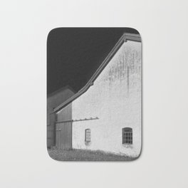 Black and White Barn Bath Mat