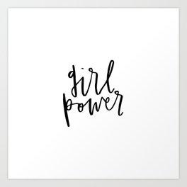 Girl Power Cursive Art Print
