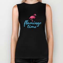 Flamingo time Biker Tank
