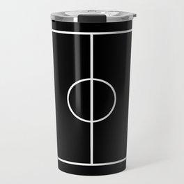 Soccer field / Football field in Black and White Travel Mug