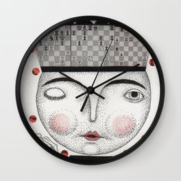The White Queen Wall Clock