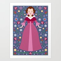 belle Art Prints featuring Belle by Carly Watts