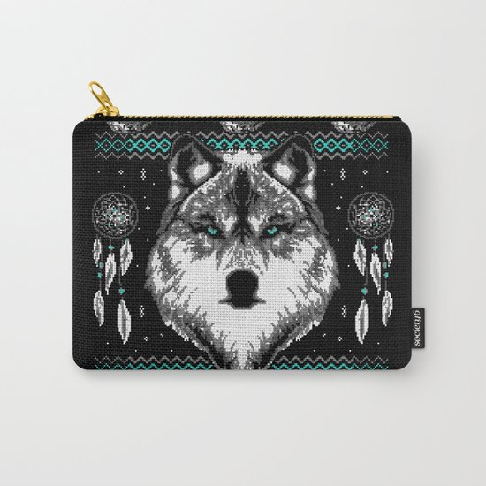 Merry Wolfmas Carry-All Pouch