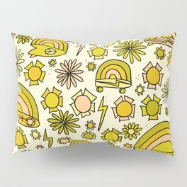 Radical daydreams surf and skate // retro art by surfy birdy Pillow Sham