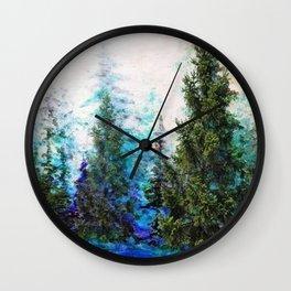BLUE MOUNTAIN PINE FOREST  VISTA Wall Clock