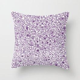 Floral Pattern - Medieval Swirls Throw Pillow