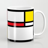 mondrian Mugs featuring Mondrian by The Wellington Boot