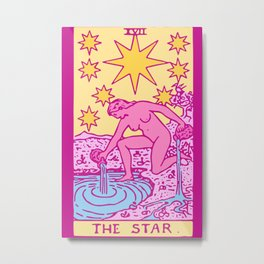The Star - A Femme Tarot Card Metal Print