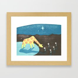 Lonesome Giraffe Framed Art Print