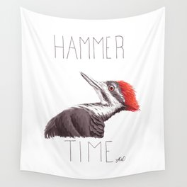 Hammer Time (Pileated Woodpecker) Wall Tapestry