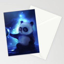 Panda and Bubbles Stationery Cards
