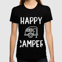 Happy Camper - Teardrop Trailer Art T-shirt
