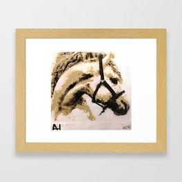 Horse Stencil Framed Art Print