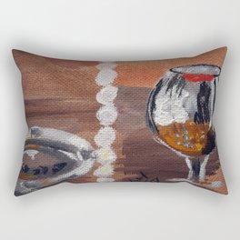 "Thumbnail of the painting ""White beads"" #1 Rectangular Pillow"